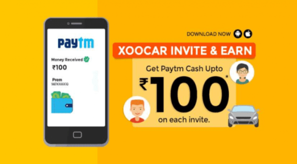 (Paytm) Xoocar App – Get ₹200 bonus on Signup + upto ₹100 per refer