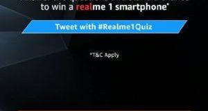 Amazon Realme 1 Quiz Answers - Participate & win Realme 1 device