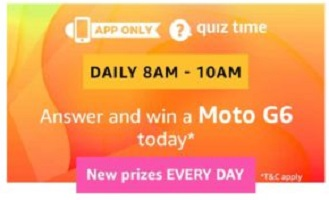 Amazon Moto G6 Quiz Answers - Win Free Moto G6 Smartphone