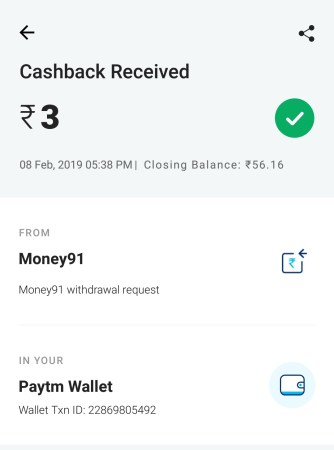 Money91 app proof