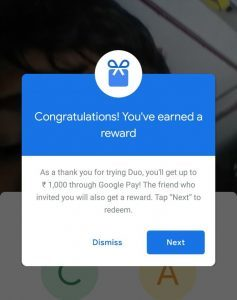 Google Duo Refer and Earn - Get Free Google Pay Scratch Cards
