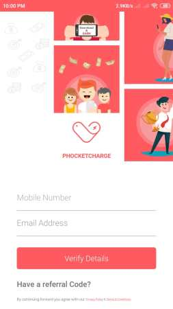phocketcharge app refer earn loot