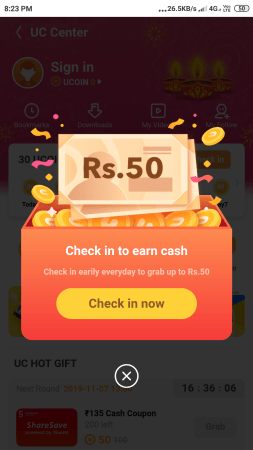 uc browser refer earn loot