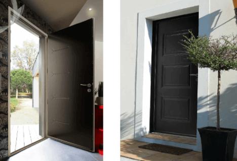Portes d'entrée acier collection relief