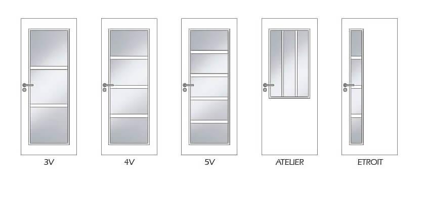 portes intérieures vitrées Modulight