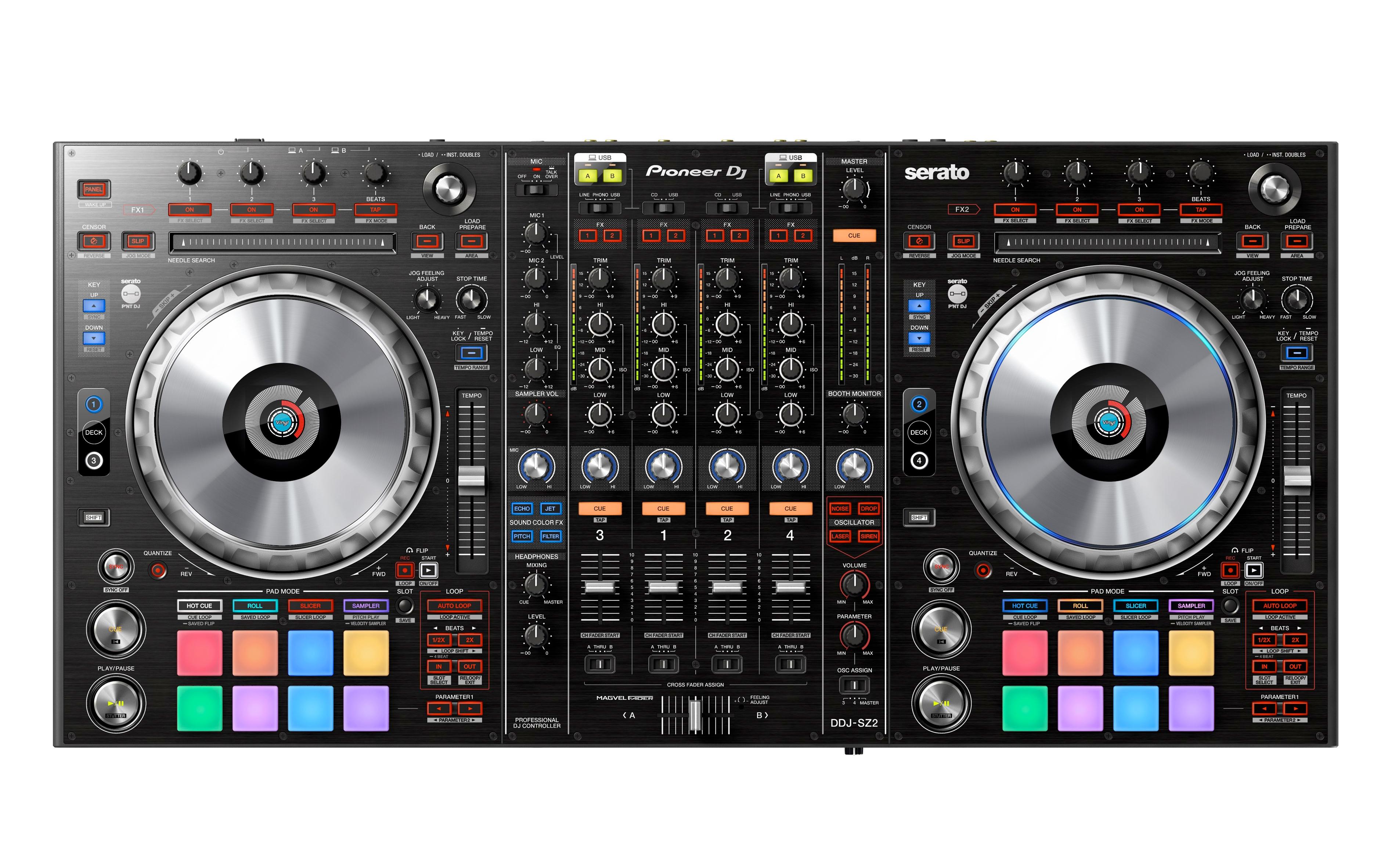 Pioneer DJ DDJSZ2 Flagship 4 Channel Serato DJ Controller