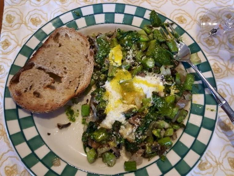 Midnight Asparagus Eggs