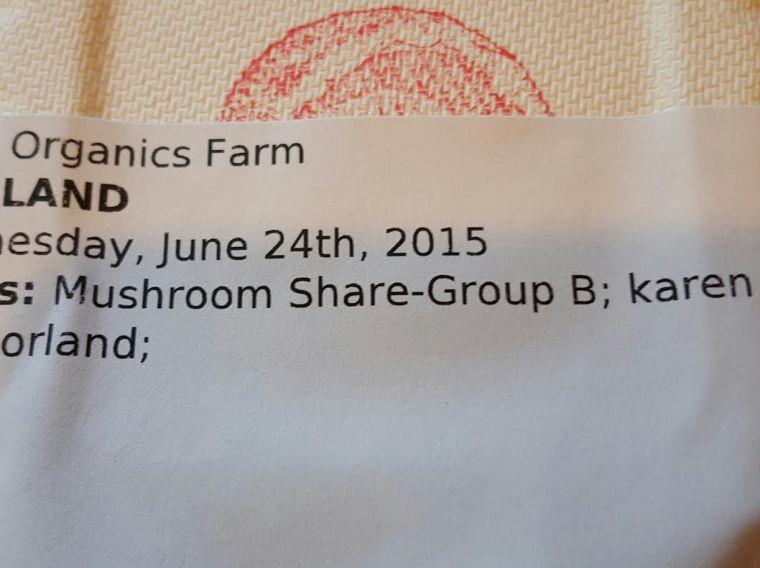 1st Mushroom Share:-)