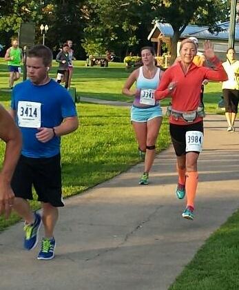 Sioux Falls mile 5.5 Half Marathon