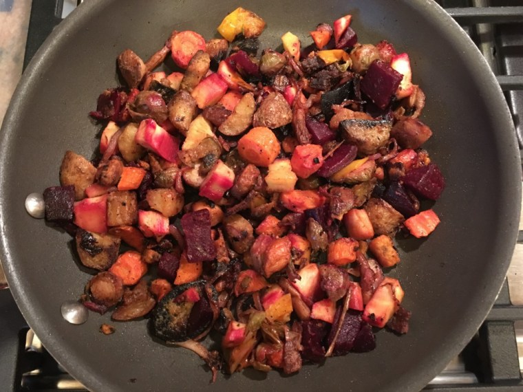 Left over Root Vegetables