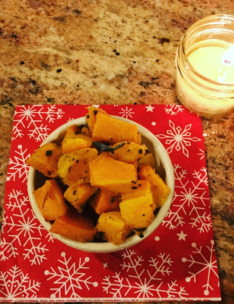 Roasted Butternut Squash by Candle-Light