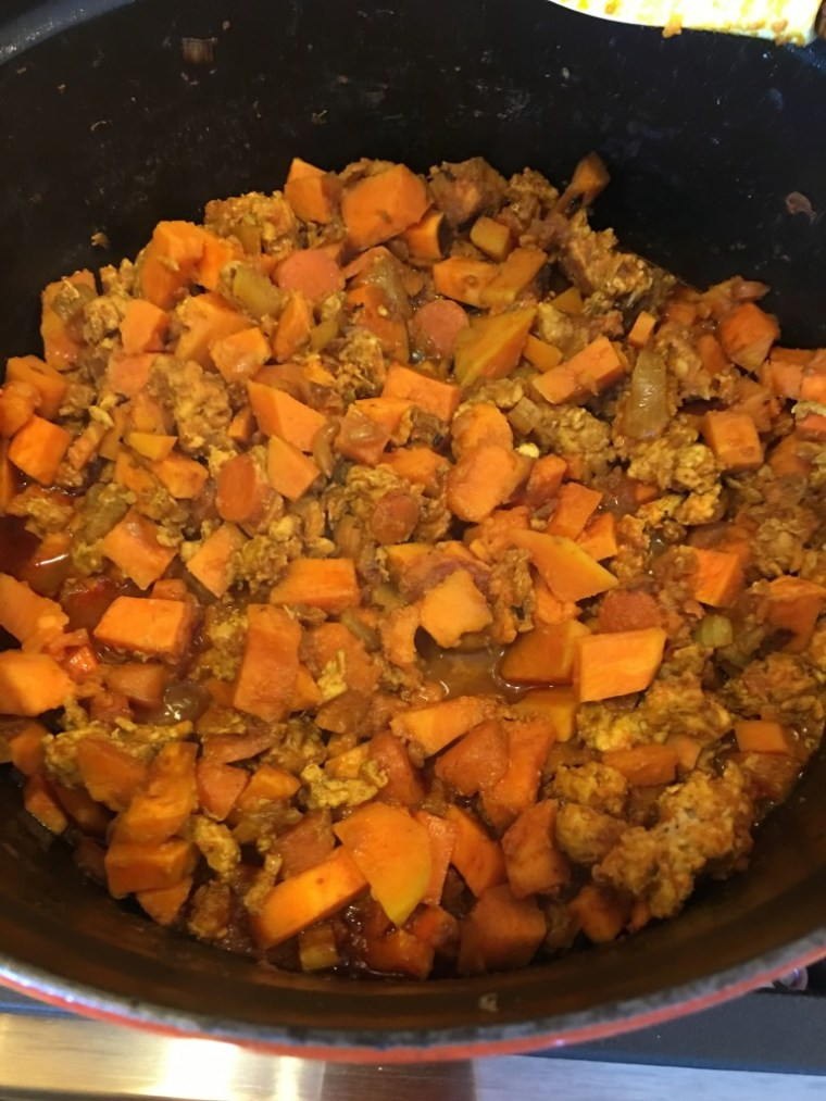 Sweet Potato Stew with Ground Turkey