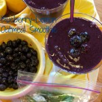 Blueberry-Lemon Oatmeal Smoothie with oats