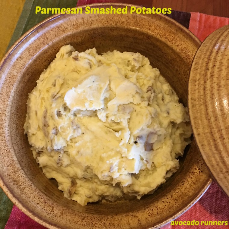 Parmesan Smashed Potatoes with Buttery Yukon Golds
