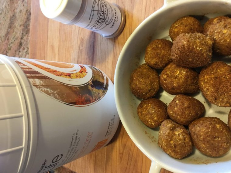 Shaklee Pumpkin Spice takes these Protein Bites up a Notch that is for sure!