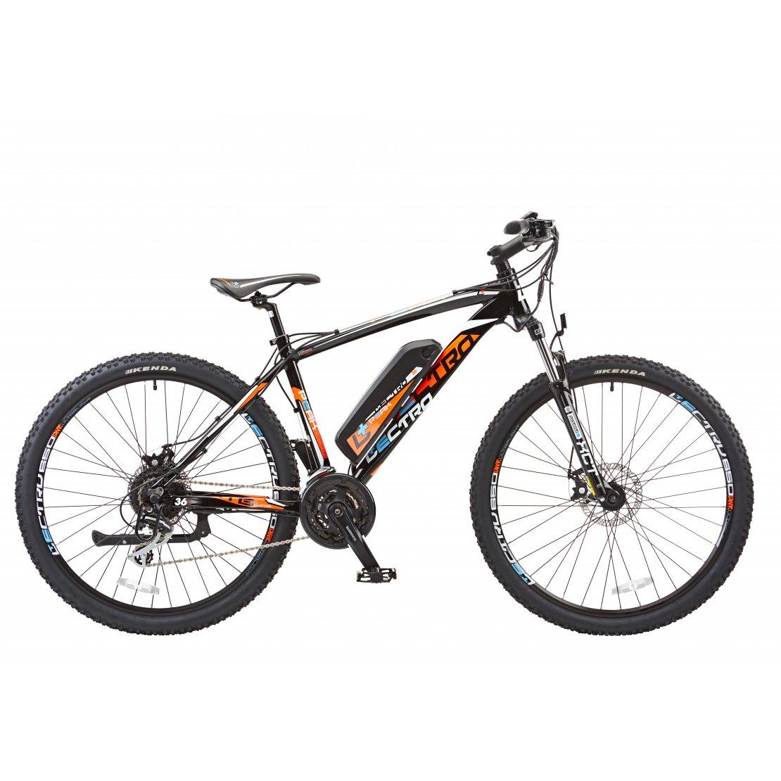 18 Peak 24 Speed 36v E Bike 27 5 Wheel Gents Black