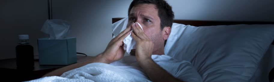 Are your flu symptoms getting worse at night?