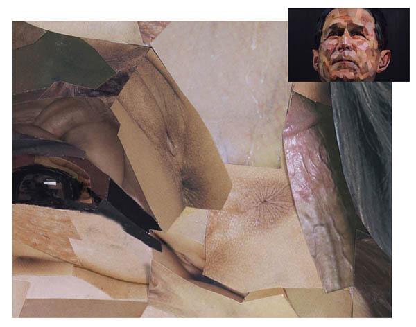 Le portrait de Bush, par Jonathan Yeo  - agrandissement oeil
