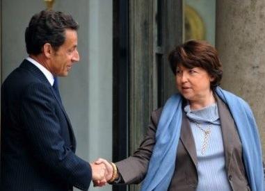 Nicolas Sarkozy Martine Aubry