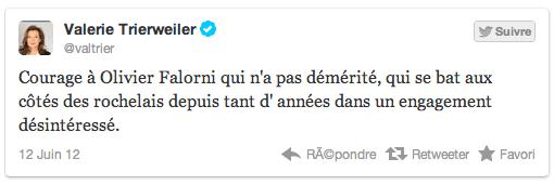 Valérie Trierweiler pour Olivier Falorni et contre Ségolène Royal