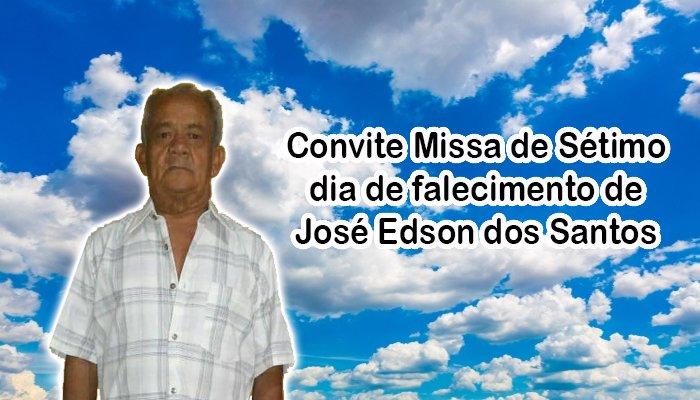 Convite Missa de Sétimo dia de falecimento de José Edson dos Santos