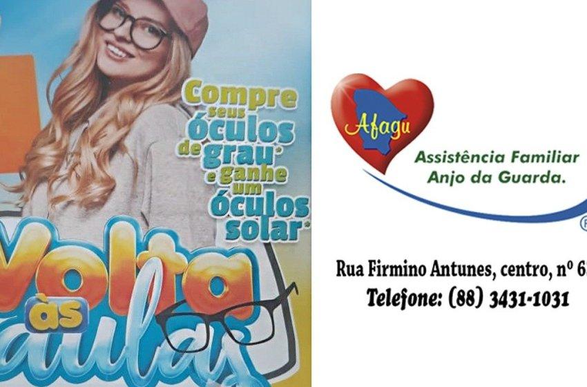 Compre seus óculos de grau e ganhe um óculos solar na Ótica Afagu em Itapiúna