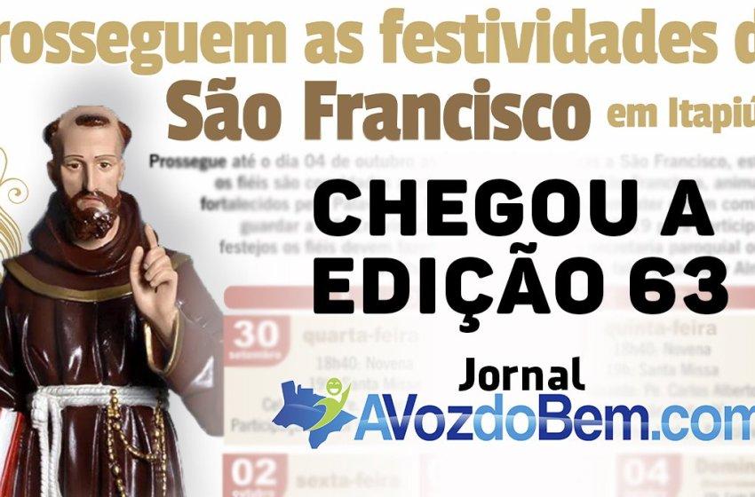 Chegou a edição 63 do jornal avozdobem.com