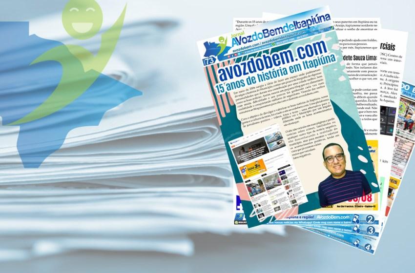 Confira à edição 73 do jornal A Voz do Bem de Itapiúna