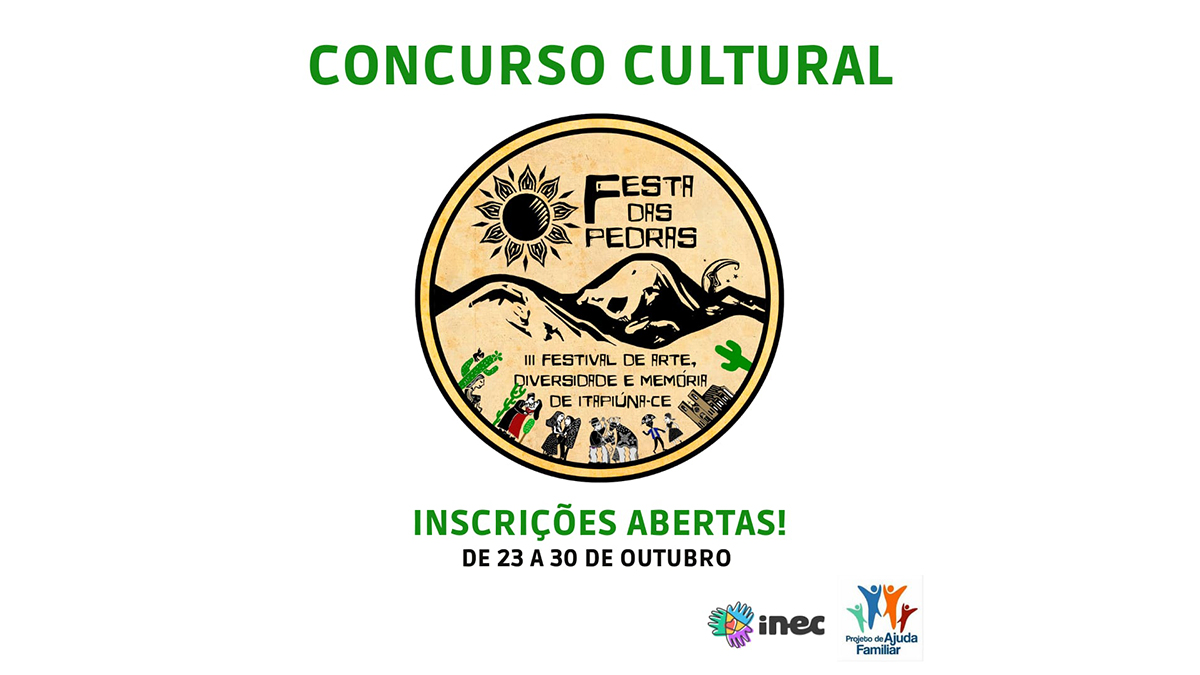 Participe do Concurso Cultural Festa das Pedras em Itapiúna