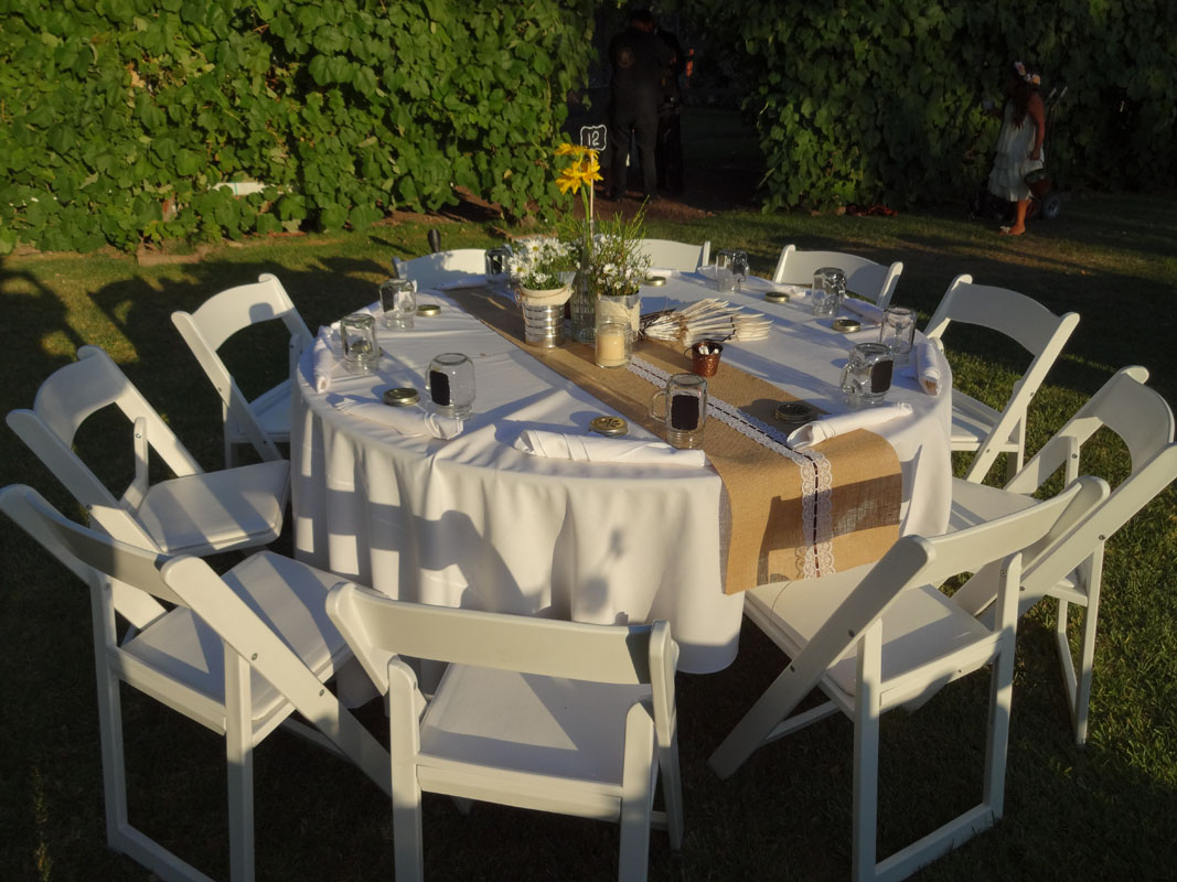rent wedding tables and chairs how to clean plastic burlap table runners av party rental