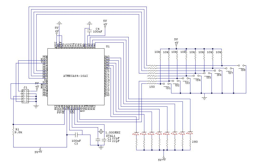 Can't run ATmega64 out of the stk501 (schematics attached