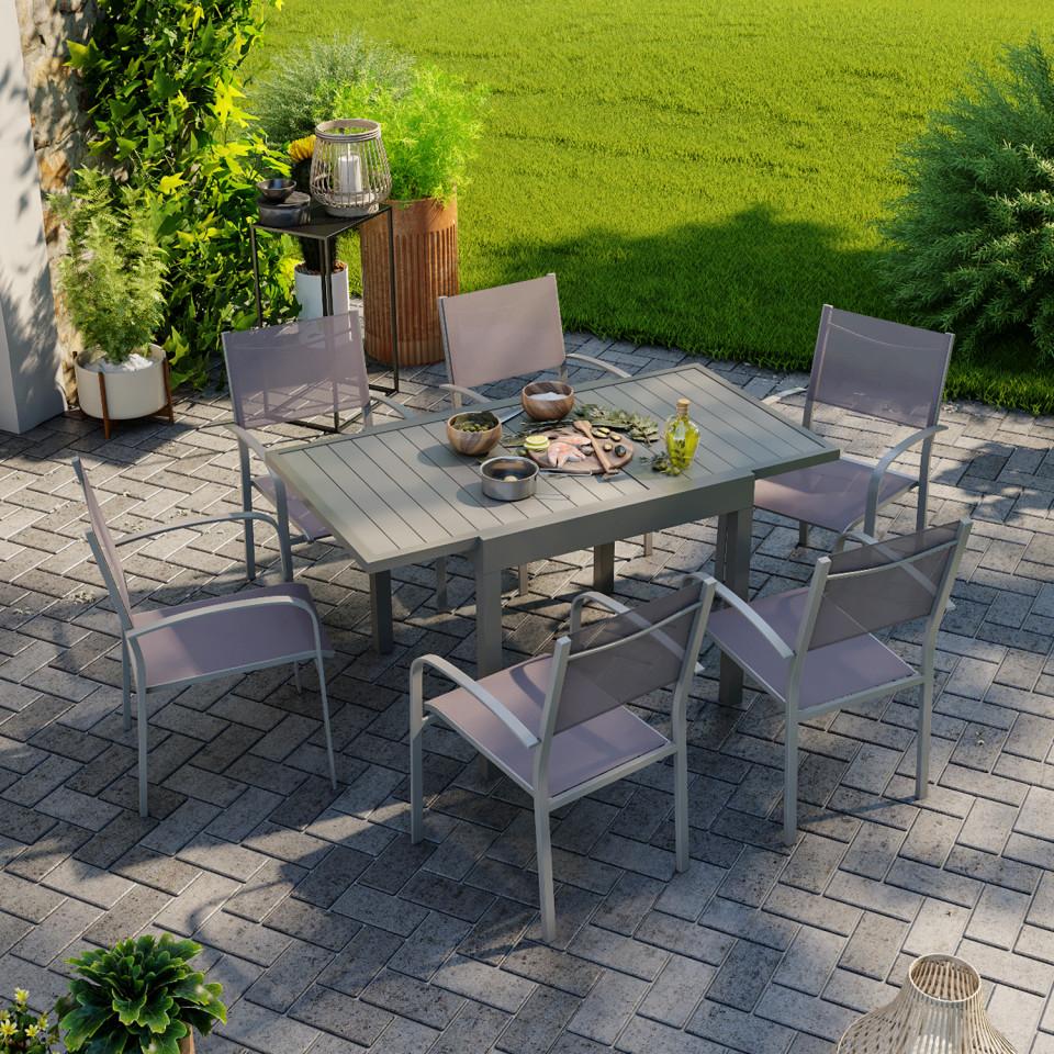 table de jardin extensible aluminium 83