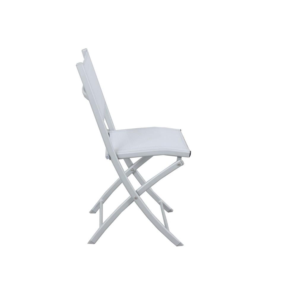 4 chaises pliables aluminium textilene