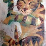 cat painting that featured in art exhibition in 2000