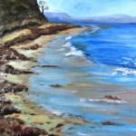 My first successful painting of a beach, at Merriks Beach,in Victoria