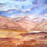 Painting of the landscape you see in tibet, taken fromt he freindship highway