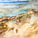 Watercolour of seaweed at the beach, under water, taken at queenscliff.