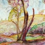 Landscape painting of the lovely landscape at Terrik Terrik National park