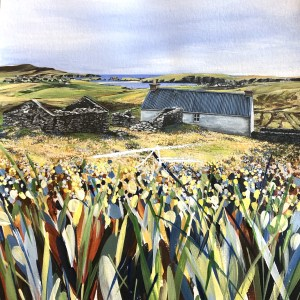 Avril Thomson Smith Croft House Painting St Ninian's Isle