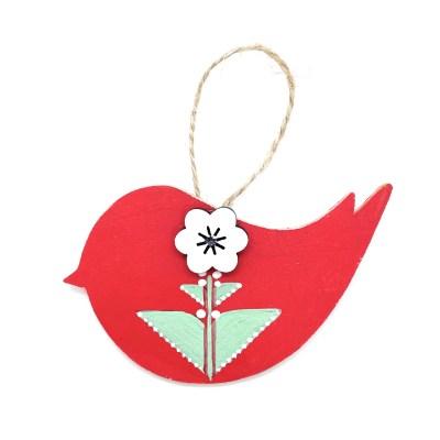 Red scandi bird