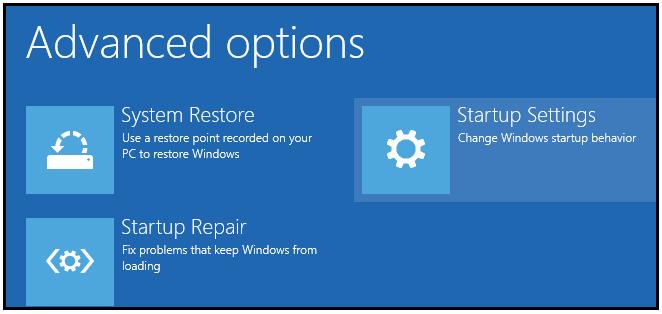 Microsoft Advanced Option