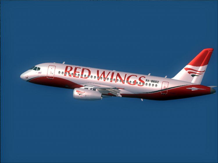aeroproyecto ssj 100 red wings fs2004 aircraft liveries and textures