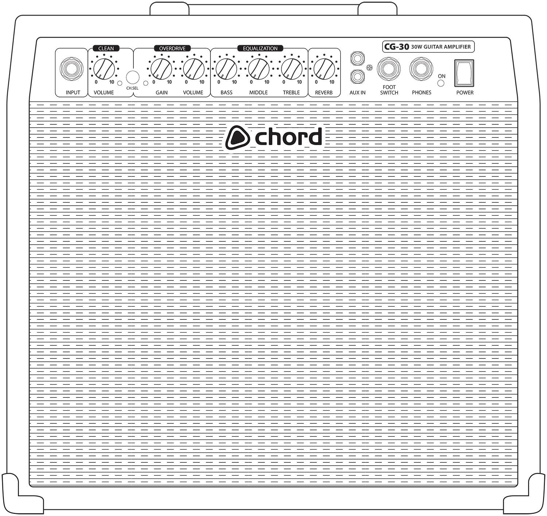 Cg 30 Guitar Amplifier 30w Home Garage Band Practice