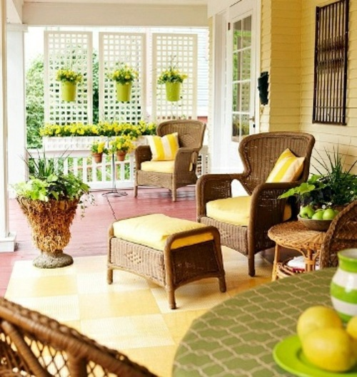 Beautiful Colorful Porch Ideas Cozy Sitting Area Interior Design Ideas