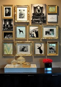 Cool Wall Art  make a photo wall with family photos ...