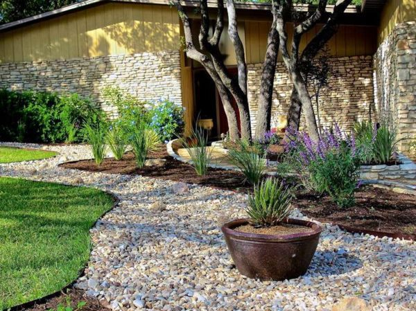 landscaping with gravel and stones