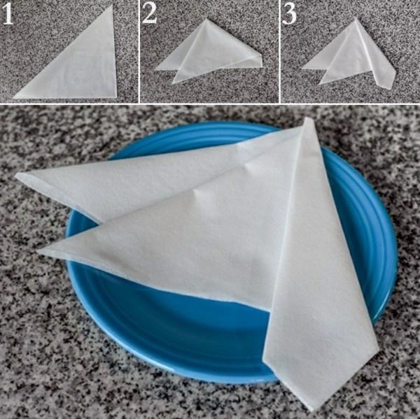 paper napkin flower folding