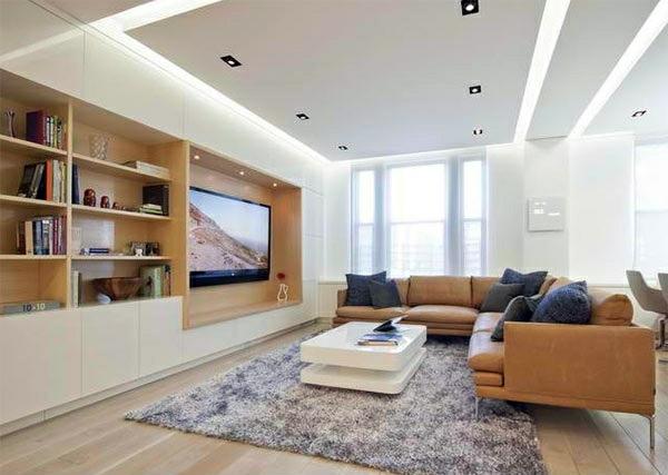 TV room wall in modern living room  15 Inspiring Examples  Interior Design Ideas  AVSOORG