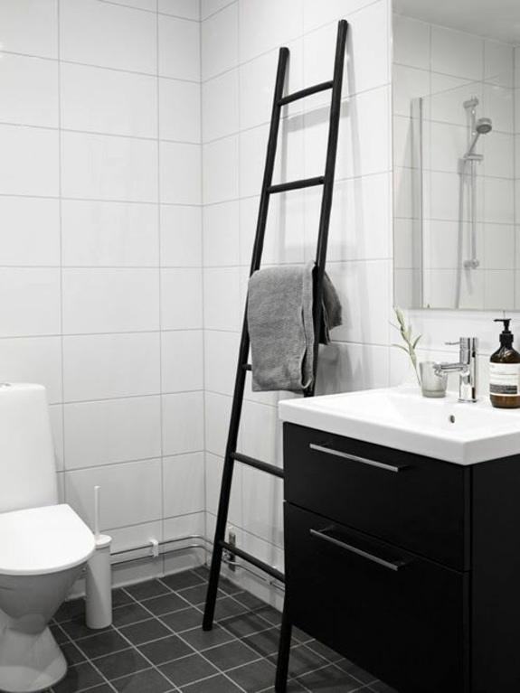 Wooden towel ladder in both rustic as well as in modern bathroom  Interior Design Ideas  AVSOORG