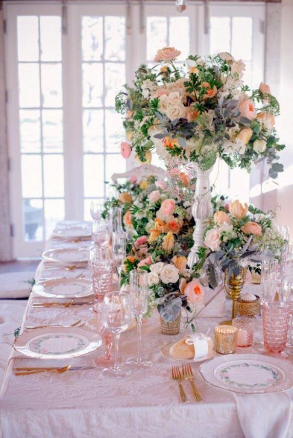 My Wedding Decor in creamy and peach colors  Interior Design Ideas  AVSOORG